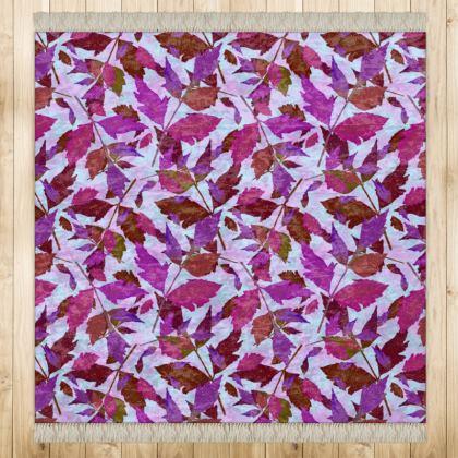 Mauve Rug [medium]  Diamond Leaves  Anemone