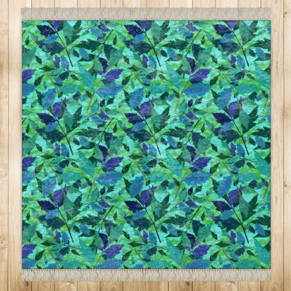 Green Rug  Diamond Leaves  Rainforest