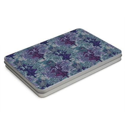 Blue Pencil Case Box [A4 size shown]  Foxglove  Deep Ocean
