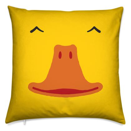 Smiling, Yellow Duck Cushion