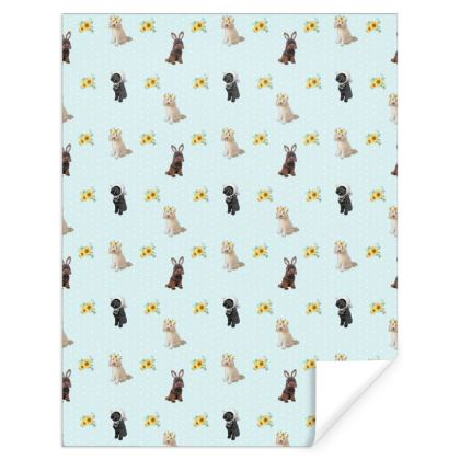 Cockapoo easter gift wrap