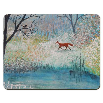 Place mat with Fox Trot design by Jo Grundy