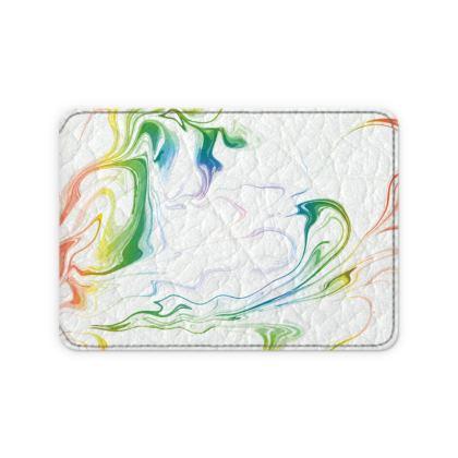 Leather Card Case - Marbling Smoke 1