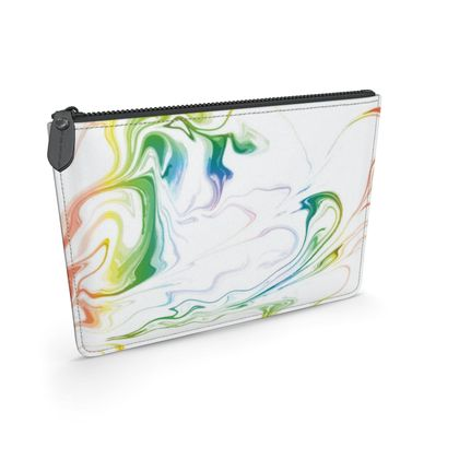 Leather Pouch - Marbling Smoke 1