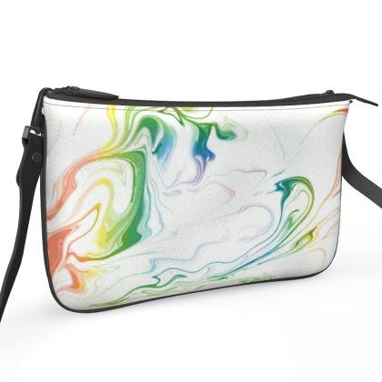 Pochette Double Zip Bag - Marbling Smoke 1