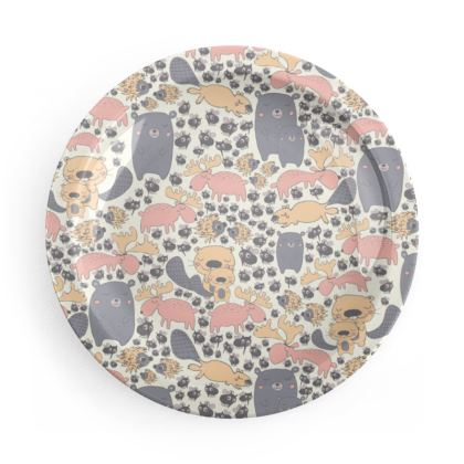 Scandinavian inspired printed party plates