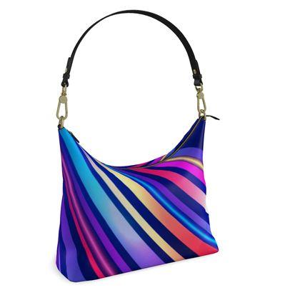 Square Hobo Bag -  Neon Nights