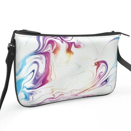 Pochette Double Zip Bag - Marbling Smoke 2
