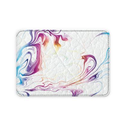 Leather Card Case - Marbling Smoke 2