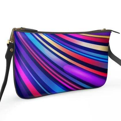 Pochette Double Zip Bag - Neon Nights