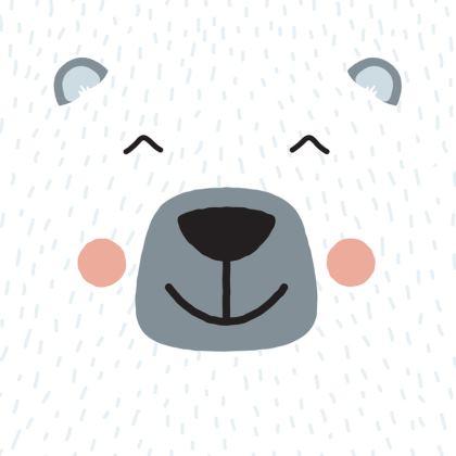 Smiling Polar Bear Cushion
