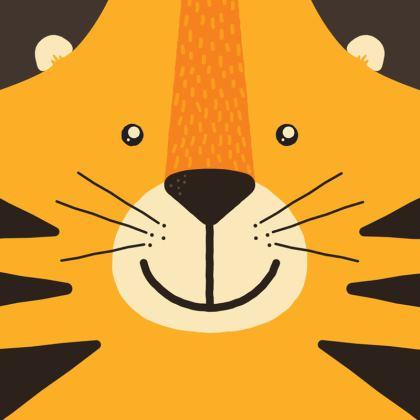 Smiling Tiger Cushion