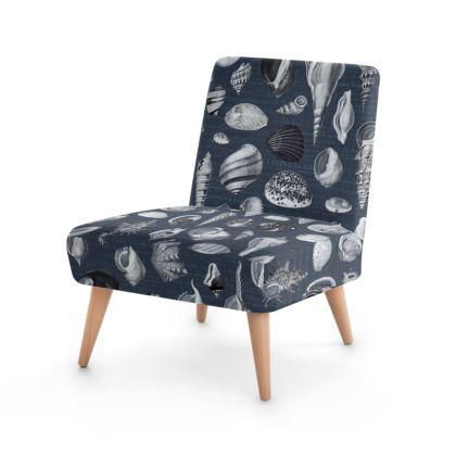 Occasional Chair Nautilus in navy blue grey