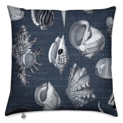 Cushions Nautilus in navy blue grey