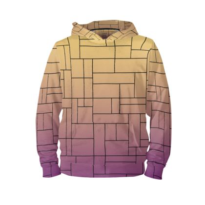Back Print Stained Glass Taurus Constellation Print Hoodie