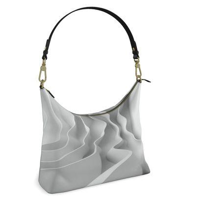 Square Hobo Bag -  Rippling Waves