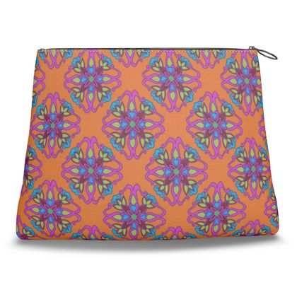 Chinese Tiles Clutch Bag