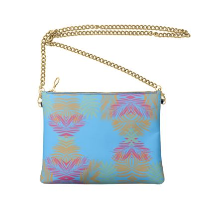 Crossbody Bag With Chain- Emmeline Anne Feathers