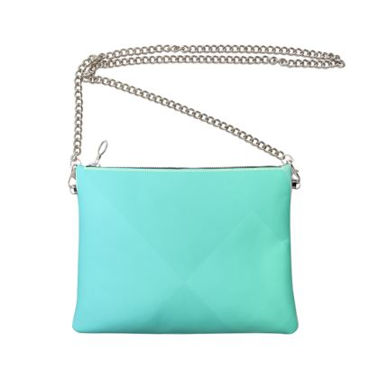 Crossbody Bag With Chain- Emmeline Anne Turquoise Treat