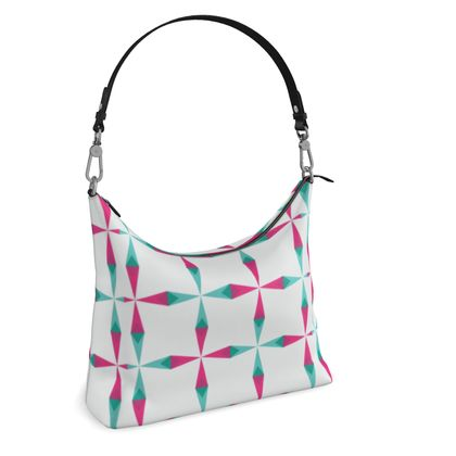 Square Hobo Bag- Emmeline Anne Delightful Diamonte Diamonds