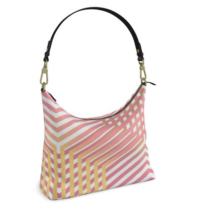 Square Hobo bag- Emmeline Anne Pink and Gold Dazzle