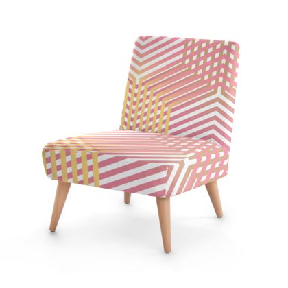 Occasional Chair- Emmeline Anne Pink and Gold Dazzle