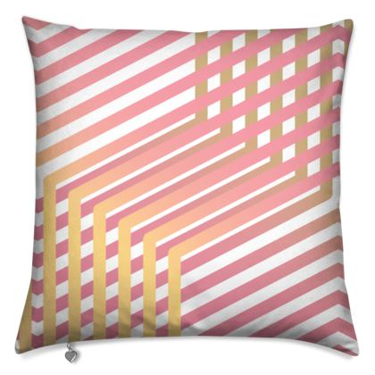 Cushion- Emmeline Anne Pink and Gold Dazzle