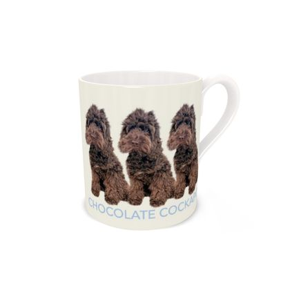 Chocolate Cockapoo bone China mug