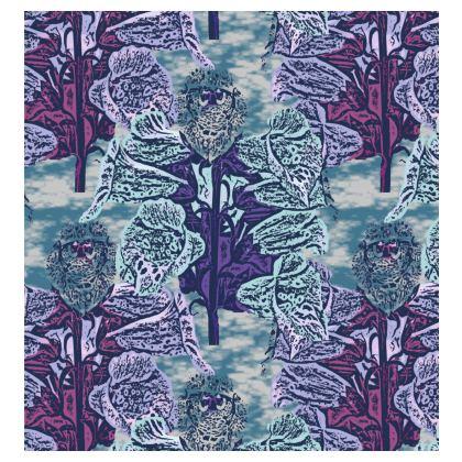 Teal, Mauve Kimono Jacket  Foxglove  Deep Ocean