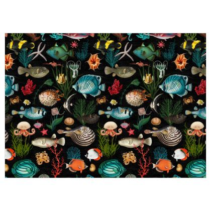 Fabric by the metre Oceania in Black