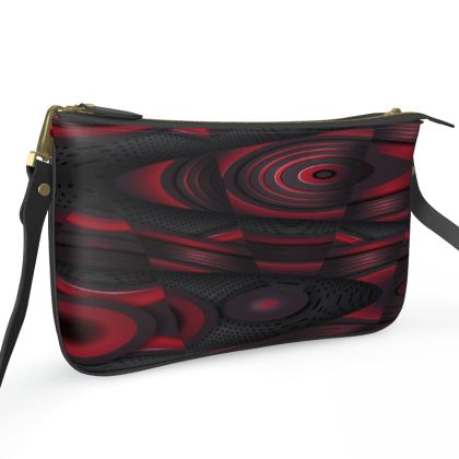 Pochette Double Zip Bag - Red Mood Abstract