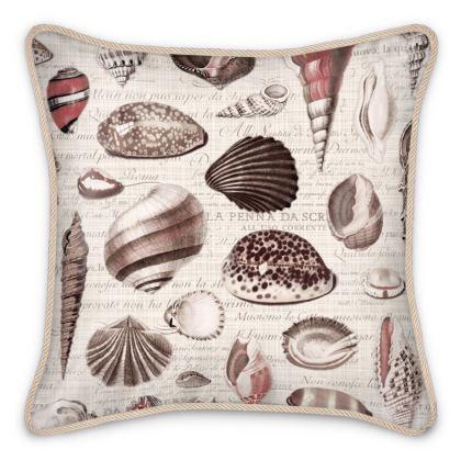 Silk Cushion Nautilus in rose blush pink beige