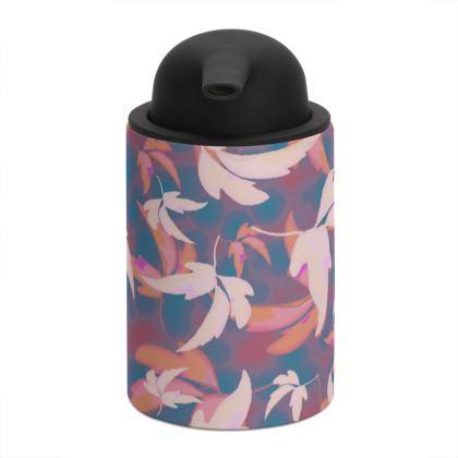 Blue, pink Soap Dispenser  Leaves in Flight  City