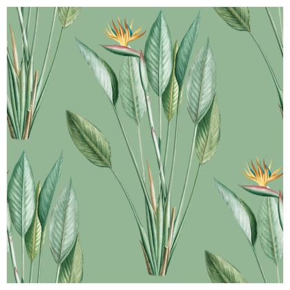 Large Scale Wallpaper | Paradise in Light Green
