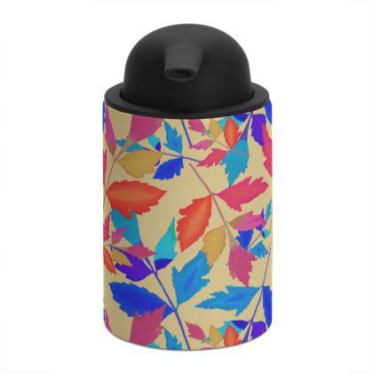 Blue Orange Soap Dispenser  Cathedral Leaves  Kaleidoscope