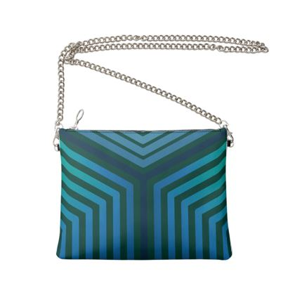 Crossbody Bag With Chain - Emmeline Anne Teal Angles