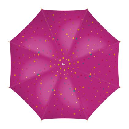 Umbrella- Emmeline Anne Magenta Dots