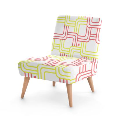 Occasional Chair- Emmeline Anne Red/Yellow Links