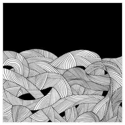 Fabric Printing - Tangled Waves