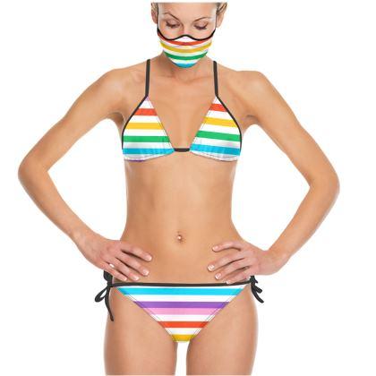 Trikini- Emmeline Anne Rainbow Stripes