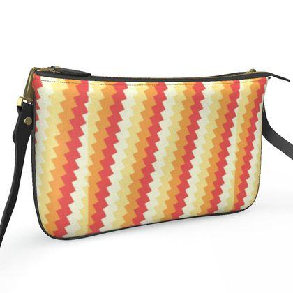 Pochette Double Zip Bag- Emmeline Anne Gorgeous Golds