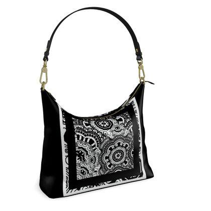 Elegante borsa in pelle a spalla