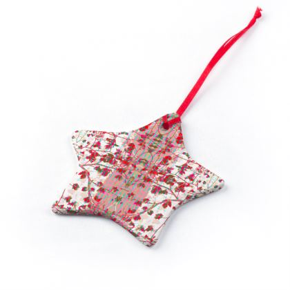 Red Star Branch Christmas Ornaments