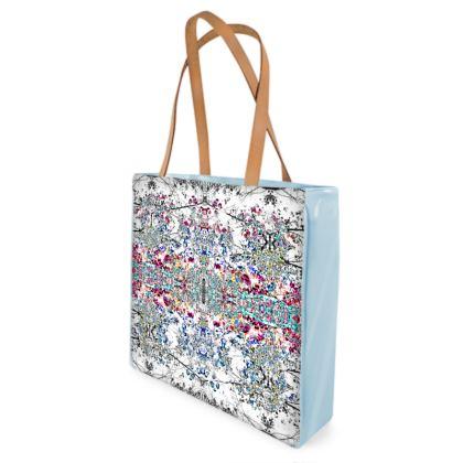 Sky Damask Shopper Bag