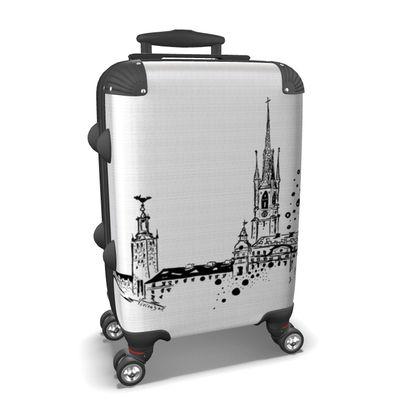 SUITCASE, luggage white Sthlm