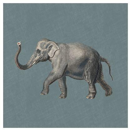 Luxury Cushion Elephant in Duck egg