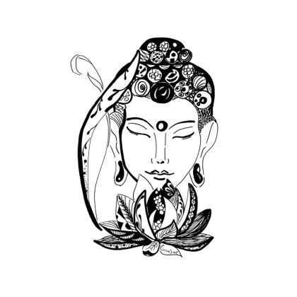 Sweet buddha dreams Cushion