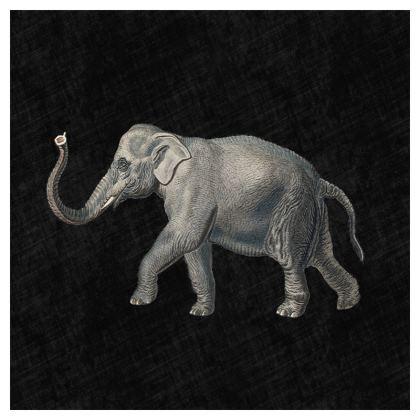 Luxury Cushion Elephant in Black