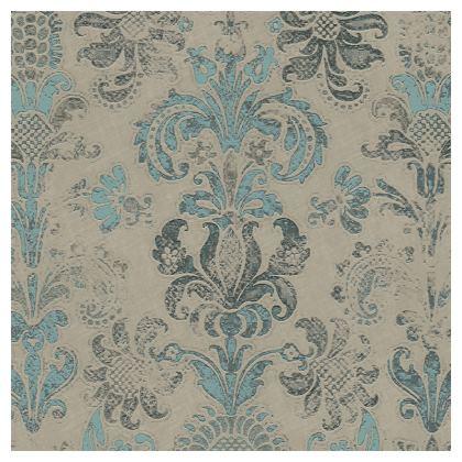 Luxury Cushion Grunge Damask Grey Duck Egg
