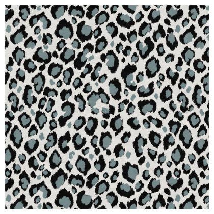 Luxury Cushion Leopard Black Grey Duck Egg